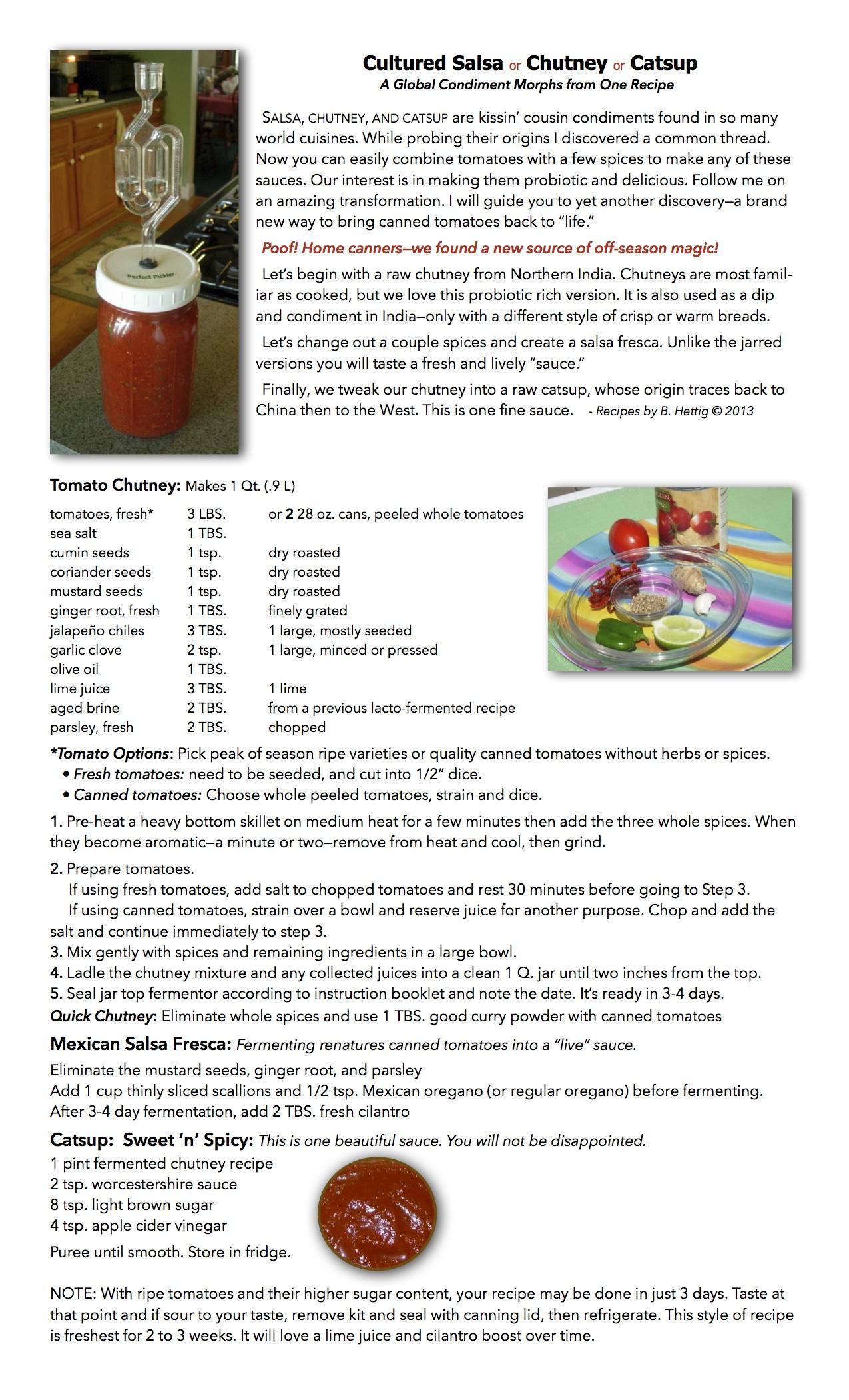 Salsa or Chutney or Catsup - Recipe